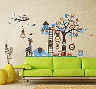 Large Animals Monkeys Tree PVC Wall Sticker Wall Decals