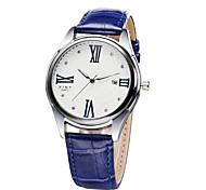 2015 New Fashion Roman Numerals Faux Leather Analog Quartz Watch Men Diamond Watches Wrist Watch
