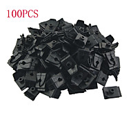 K049 100 Pcs Car Auto Plastic 5mm Hole Plug Fastener Hood Prop Rod Support Clips