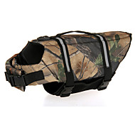 Oxford Cloth Camouflage Life Jacket for Dogs M