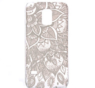 Leaf Flower Pattern Transparent PC Material Phone Case for Samsung GALAXY S6 /S6 edge/S5/S3Mini/S4Mini/S5Mini