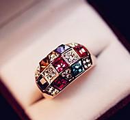 Кольца на вторую фалангу Кристалл Драгоценный камень Стразы Сплав Мода Классика Elegant Pоскошные ювелирные изделия Цвет экрана Бижутерия