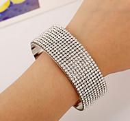 HUALUO®New Fashion Full Diamond Silver Bracelet