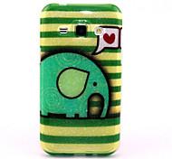 Love Elephant Pattern Glitter TPU Cell Phone Soft Shell For Galaxy J1/ J5 /J7 /G530 /G360