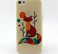 fox cas modèle TPU de téléphone pour iphone 5c