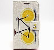 vélo citron étui en cuir PU avec support pour Samsung Galaxy S6 / S5 / S4 / s3 / s3 mini-/ s4 mini-bord / s5 Mini / S6 / note 3 / note 4