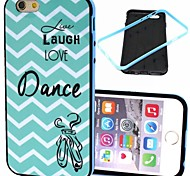 2-in-1 Live Laugh Dance Pattern TPU Back Cover with PC Bumper Shockproof Soft Case for iPhone 6