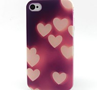 Heart Pattern TPU Material Soft Phone Case for iPhone 4/4S
