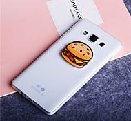 Hamburger Pattern Ultra Thin Transparent TPU Soft Cover Case for Samsung Galaxy A3/A5/A7/A8
