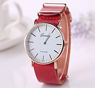 2015  New  Fashion Pu Leather Strap Momen    Clock Relogio Quartz Casual Wrist Watch Momen