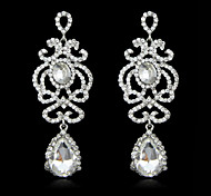 Women's Elegant AAA Zircon Crystal Tassel Drop Earrings for Wedding Party, Fine JewelryImitation Diamond Birthstone