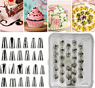 26Pcs Cake Decorating Tools Stainless Steel Set with Hinged Storage Box