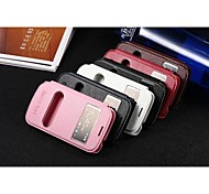 Luxury Mobile Phone Case for Samsung Galaxy Ace4/G312H Open Window Pu Leather Flip Holder Cover Case Multicolor