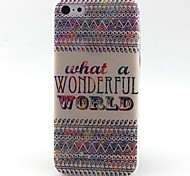 Letters Pattern TPU Material Phone Case for iPhone 5C