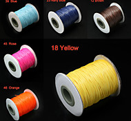 Beadia 80M/Roll  Korean 0.8mm Waxed Cotton Cord  7 Colors U-Pick Beading String