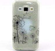 Dandelion Pattern Glitter TPU Cell Phone Soft Shell For Galaxy J1/ J5 /J7 /G530 /G360