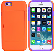 Sports and Outdoors Shockproof TPU+PC Credit Card Holder Wallet Case Cover for iPhone 6 (Assorted Color)