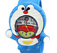Children's Cute Cartoon Silicone Doreamon Pattern   Lovely Digital Quartz Slap Watch Cool Watches Unique Watches Fashion Watch
