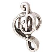 Beads DIY forma de notação musical de metal grânulos grande buraco 10pcs