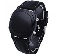 Masculino Relógio Esportivo Digital LED Silicone Banda Relógio de Pulso Preta