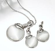 Bijoux-Colliers décoratifs / Boucles d'oreille(Plaqué argent)Mariage / Soirée / Quotidien / Décontracté Cadeaux de mariage