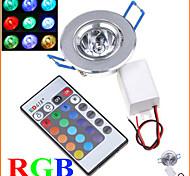 1 stuks MORSEN 3 W 1 Krachtige LED 200-250 LM RGB Verzonken ombouw Op afstand bedienbaar / Decoratief Plafondlampen AC 85-265 V