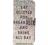 glitter Muster PU-Leder-Telefonkasten für iphone 5/5 s