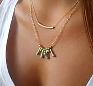 Bohemia Delicate Layering Necklaces ,Layering Necklaces, Bar necklace,Gold Necklace Turquoise Clavicle Necklace