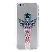 Giraffe Pattern PC Material Phone Case for iPhone 6
