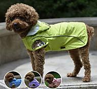 Double-layer mesh Waterproof Small Dog Raincoat Nylon Pet Rain Coat