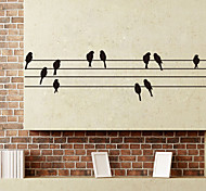 Creative Birds Utility Pole PVC Wall Sticker Wall Decals