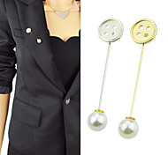 Gold Silver Plated Simple Long Brooch Pin