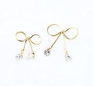 Tropfen-Ohrringe Kristall Strass vergoldet 18K Gold Imitation Diamant Modisch Gold Silber Schmuck 2 Stück