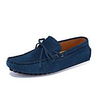 Zapatos de Hombre - Zapatos Náuticos - Casual - Cuero - Negro / Azul