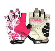 Basecamp Silica GeL Lycra Soft Mat Short Ride Bycicle Semi-finger Gloves Magenta BC-202