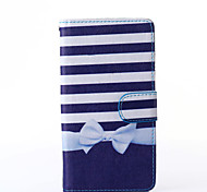 Bowknot Pattern PU Leather Full Body Case with Stand for Multiple Sony Xperia Z3/T3