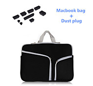 "Top Selling Zipper Sleeve bag with Silicone Dust Plug for Macbook Air 13.3""  (Assorted Colors)"