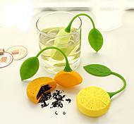 bolsa de silicona en forma de limón tetera bebedor de té de hierbas té colador infusor filtro (color al azar)