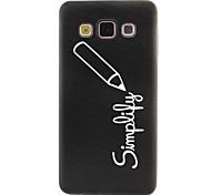 Pencil Diamond Pattern TPU Material Soft Phone Case for Samsung Galaxy A3 A5
