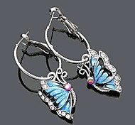 New Arrival Fashional Rhinestone Drip Butterfly Earrings