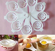 Kitchen White Egg Separator Sifting Gadget Plastic Filter Sieve Divider Holder (Random Color)