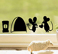 Romantic Mouses Couple Jerry PVC Wall Sticker Wall Decals