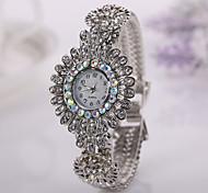 donne della vigilanza casuale modo caldo di vendita veste le vigilanze fiore braccialetto signore orologio da polso femminile originale