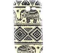 Coco Fun® patrón elefante azul suave caso del tpu para la galaxia joven 2 / e7 / bolsillo 2 / tendencia Lite