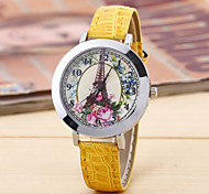 Ladies Fashion Silver Shell Flower Round Belt China Movement Watch Tower(Assorted Colors)