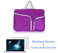 Top Selling Closure Flap Laptop Sleeve Bag and HD Screen Flim for Macbook Air 11.6 inch (Assorted Colors)