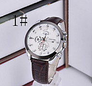 Men's Korean Fashion Design Casual Leather Strap Watch