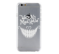 Tooth Pattern PC Material Phone Case for iPhone 6 Plus