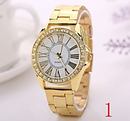 2015 Watch Women Fashion Silver Gold Rose Gold Color Steel Watch Band Watches Geneva Watches Men Luxury Brand  XR1259