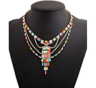Acrylic Plated With Cubic Zirconia Fashion Necklace
